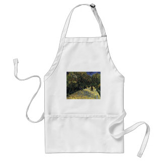 Avenue with Chestnut Trees at Arles - Van Gogh Standard Apron