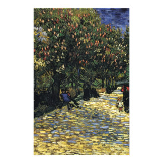 Avenue with Chestnut Trees at Arles - Van Gogh Stationery