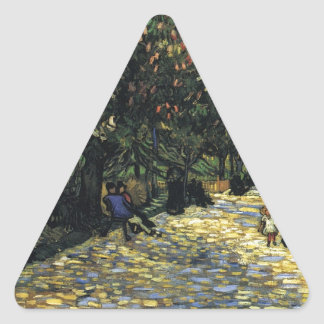 Avenue with Chestnut Trees at Arles - Van Gogh Triangle Sticker