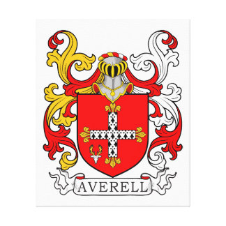 Averell Coat of Arms Stretched Canvas Prints