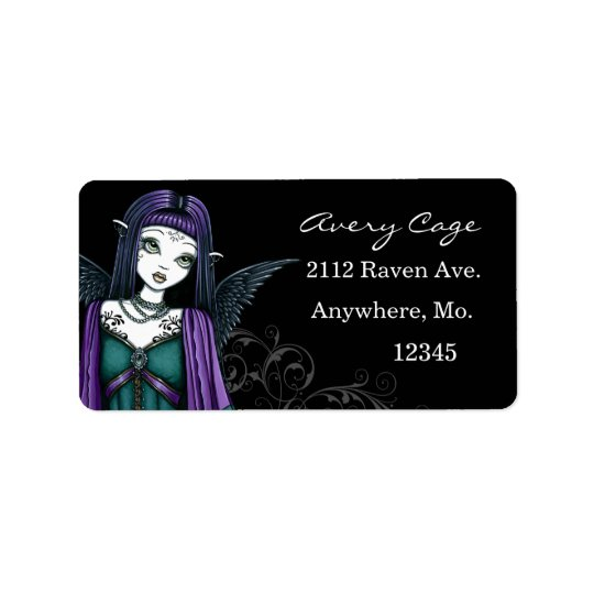 """Avery"" Gothic Angel Labels"
