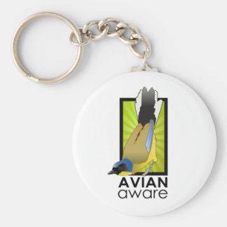 Avian Aware Logo Keychain