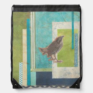 Avian Scrapbook II Drawstring Backpack