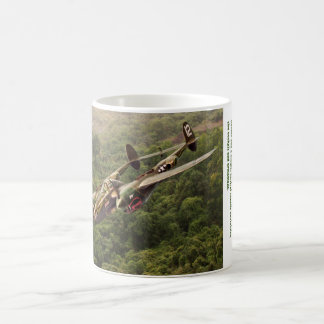 "Aviation Art mug ""Lockheed P-38 Lightning """