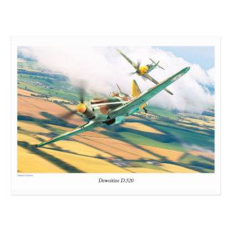 """Aviation Art Postcard """"Dewoitine D.520"""""""