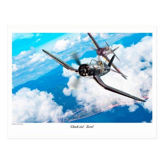 "Aviation Art Postcard ""F4U Corsair"""