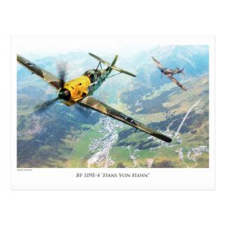 """Aviation Art Postcard """"Messerschmitt Bf109E"""""""