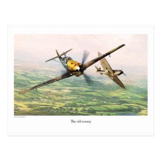 """Aviation Art Postcard """"Messerschmitt Bf 109E"""""""