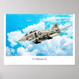 "Aviation Art Poster ""F-4 Phantom II """