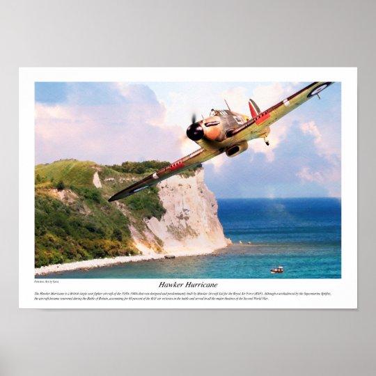 "Aviation Art Poster ""Hawker Hurricane """