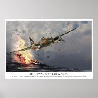 "Aviation Art Poster ""The Naval Battle off Malaya"""