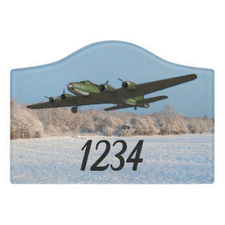 Aviation B17 Flying Fortress Aircraft Door Sign