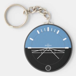 Aviation Basic Button Keychain