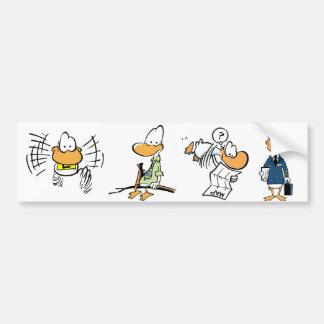 Aviation Bird Cartoons Bumper Sticker