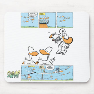 Aviation Cartoon Ducks Mousepad