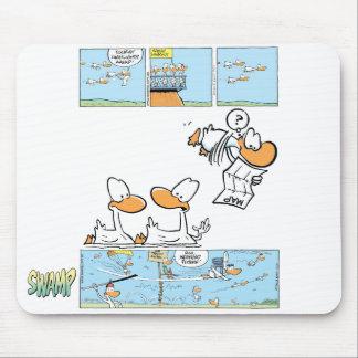 Aviation Cartoon Ducks Mousepad