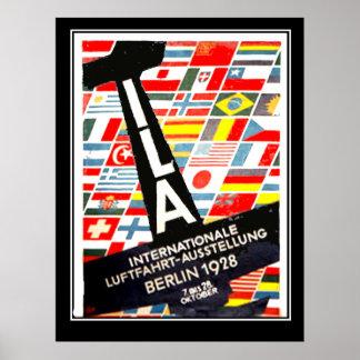 Aviation Exhibition Berlin 1928 Vintage poster