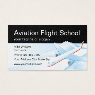 Aviation Flight School Instructor Business Card