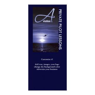 Aviation flying pilots business marketing 10 cm x 23 cm rack card