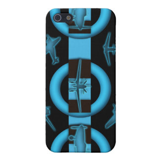 Aviation flying plane blue wings - ADD WORDING iPhone 5 Cover