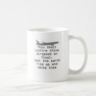Aviation Humor Commandment Basic White Mug