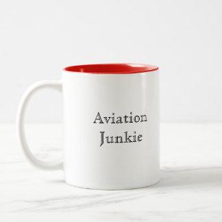 Aviation Junkie Two-Tone Mug