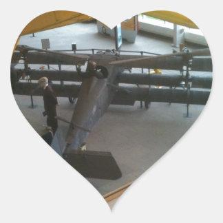 Aviation museum airplanes heart sticker