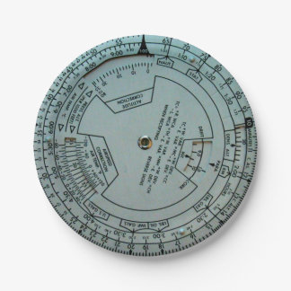Aviation Navigation Computer Paper Plates 7 Inch Paper Plate