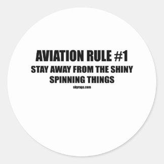 AVIATION RULE 1 CLASSIC ROUND STICKER