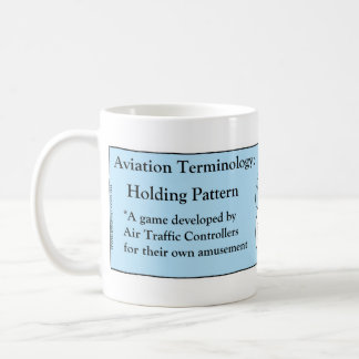 Aviation Terminology Cartoon Basic White Mug