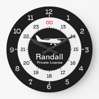 AVIATION TIME - 12-HOUR FORMAT LARGE CLOCK