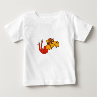 Aviator Camel Goggles Scarf Cartoon Baby T-Shirt