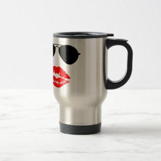 Aviator Glasses and Lipstick Kiss Mug