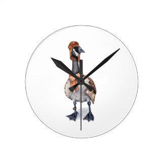 Aviator Goose Round Clock