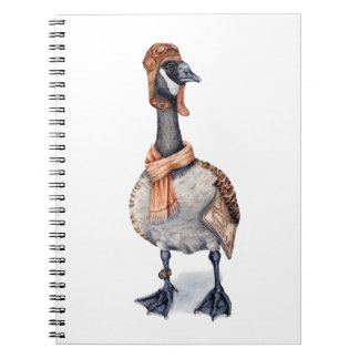 Aviator Goose Spiral Notebook