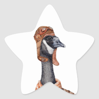 Aviator Goose Star Sticker