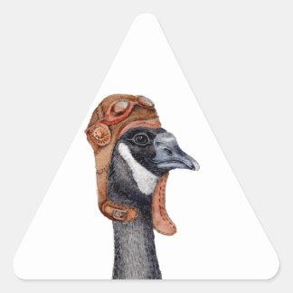 Aviator Goose Triangle Sticker