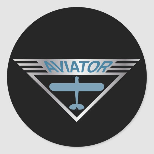 Aviator Round Sticker