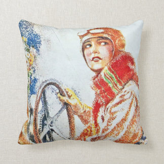 Aviatrix Throw Pillow