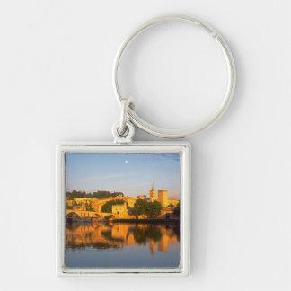 Avignon, Vaucluse, Provence, France, Rhone Silver-Colored Square Key Ring