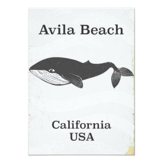 Avila Beach California Travel poster Card