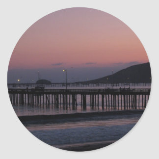 Avila Beach nights Round Sticker