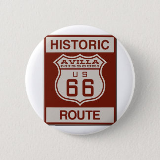 Avilla Route 66 6 Cm Round Badge