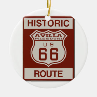 Avilla Route 66 Ceramic Ornament