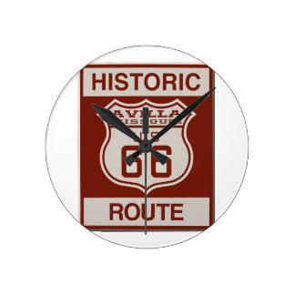 Avilla Route 66 Round Clock
