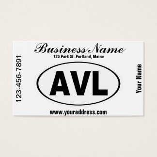 AVL Asheville North Carolina Business Card