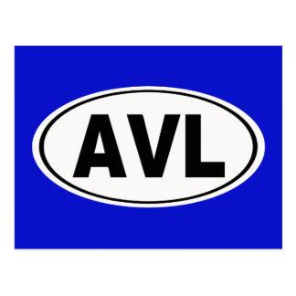 AVL Asheville North Carolina Postcard