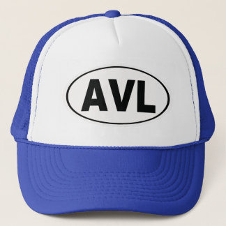 AVL Asheville North Carolina Trucker Hat