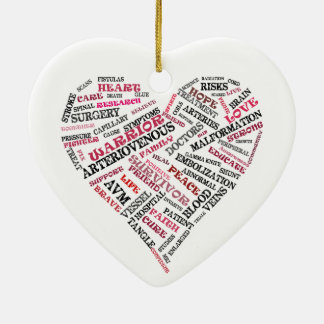 AVM Awareness Heart Ornament