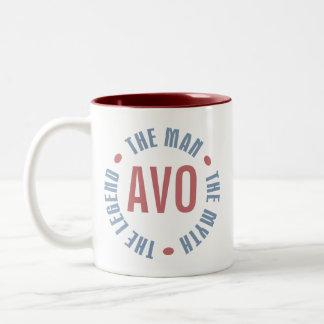 Avo Man Myth Legend Customizable Two-Tone Coffee Mug